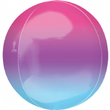 "Ombre Orbz Balloon - Purple & Blue Ombre Orbz (15"") 1pc"
